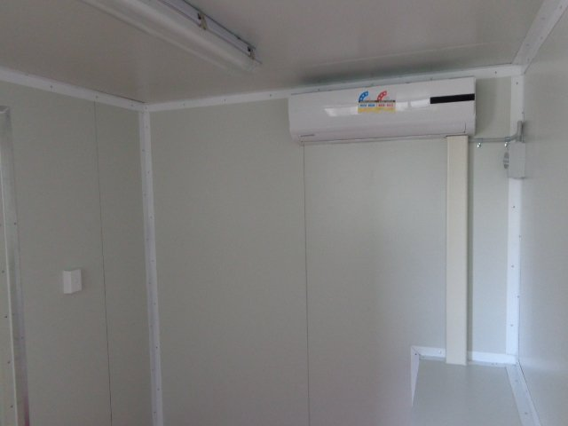 40ft partitioned office and storage container insulation aircon