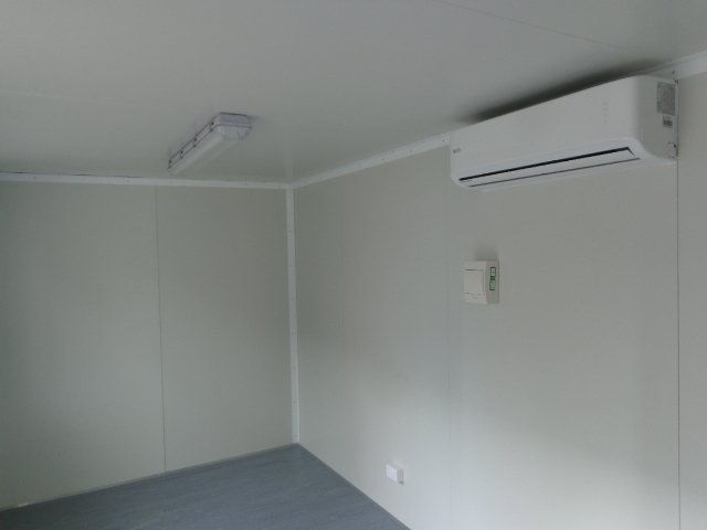 Site Office with Internal Lighting