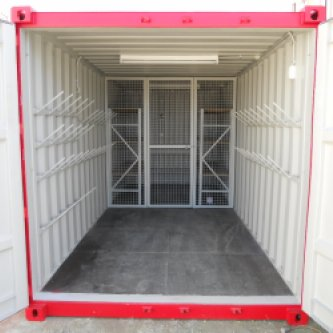 storage container with fluro lighting