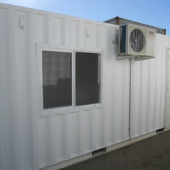 Newly converted 20GP with new floors, windows, access doors, lighting and aircon
