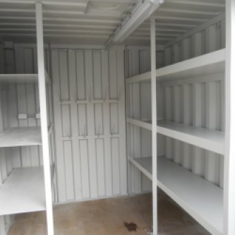 Internal view of 10ft workshop container
