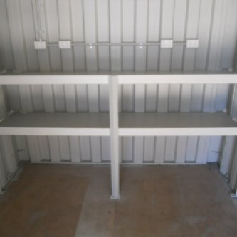 View of rear 2 tier Shelving / Workbench