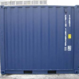 Brand new 10' shipping container - rear view