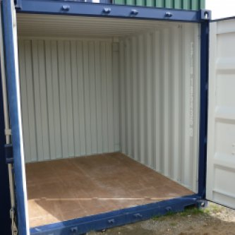 10 Foot Container, Doors open