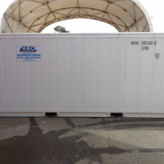 20ft New Build Refrigerated Shipping Container - external view