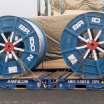 Standard Flatrack transporting cable - Blue