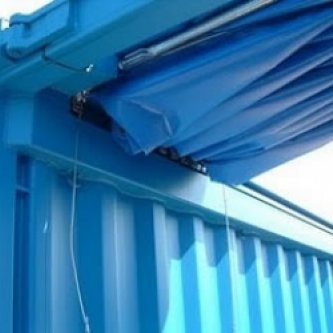 Open Top Container Pull Back Curtain