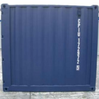 8 foot container side view