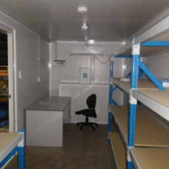 Furnished mobile site office