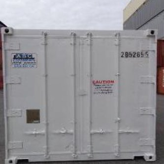 Refrigerated Shipping container partitioned into Freezer / Chiller - external view