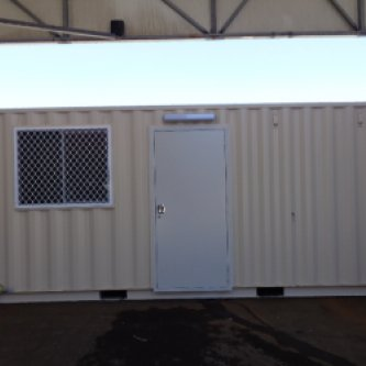 20GP Kitchen Office Modified Shipping Container Exterior