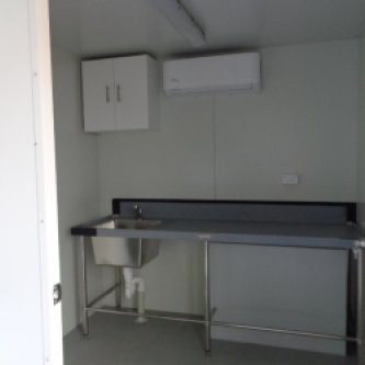 20GP Kitchen Office Modified Shipping Container Interior 1