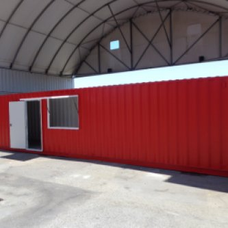 40ft Modified Tool Storage Shipping Container External View