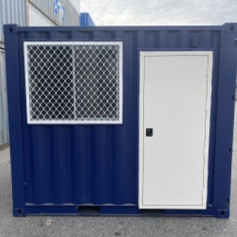 10' FT GP C Container external front view