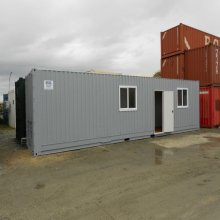 New 40' Site Container with Storage Space - Grey