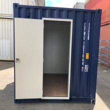 10ft modified office container personnel door