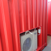 Modified Tool Storage Shipping Container Aircon external view