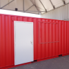 20ft Modified Tool Storage Shipping Container Extern View Doors and Windows Closed